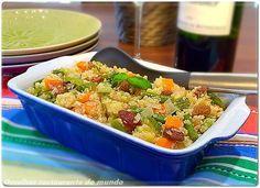 Salada de quinoa com vegetais - O melhor restaurante do mundo é a nossa Casa