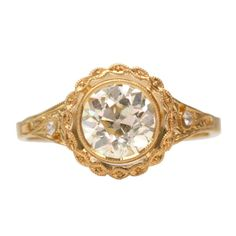 Gorgeous Hand Crafted Old European Cut Diamond Engagement Ring by Single Stone. www.singlestone.com