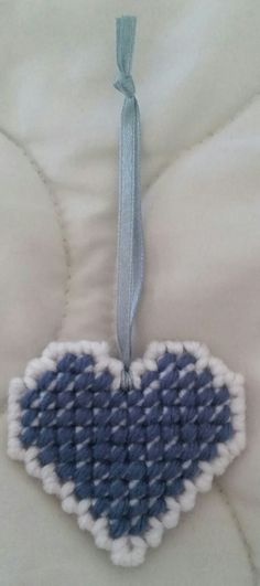White/Colonial Blue Heart
