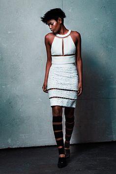 Illusion Saks fashion white style trend