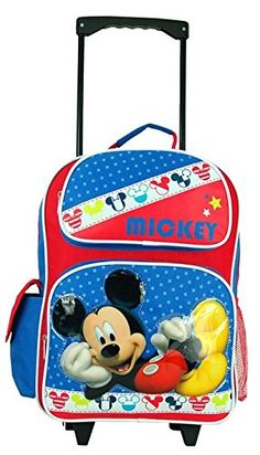 Disney Mickey Mouse Large 16' Rolling Backpack. -- More info could be found at the image url.