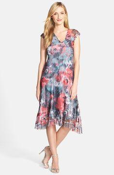 9e43a1192772e Komarov Floral Print A-Line Dress (Regular   Petite)
