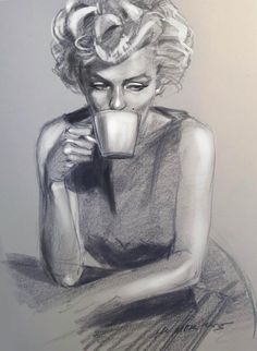 Marilyn Monroe drawing by nosoart | This image first pinned to Marilyn Monroe Art board, here: http://pinterest.com/fairbanksgrafix/marilyn-monroe-art/ || #Art #MarilynMonroe
