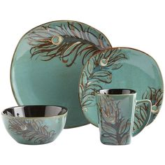 Taurus will find our Peacock Dinnerware perfectly enchanting