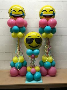 Emoji balloons are a trendy hit with party goers. Call Party Blitz Simi Valley at 805.657.3105 and order your's today! #balloons #balloonssimivalley #Partyblitz #balloondecor #partyballoons #eventdecor #birthdaypartydecor #LOL