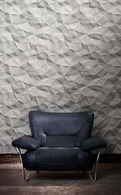 Geometric and monochrome, this suave wall texture is an elegant and modern way to bring a room to life.