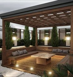 Rooftop Garden, Pergola, Outdoor Structures, Patio, Photo And Video, Landscape, House Styles, Outdoor Decor, Instagram
