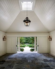garden by howard design studio | slate, lanterns, ceiling