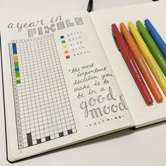 A Year in Pixels - tracking my emotions / mood in my Bullet Journal