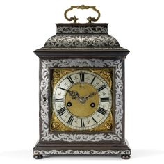A PEWTER INLAID EBONY TABLE CLOCK, JONATHAN LOWNDES, LONDON, CIRCA 1685