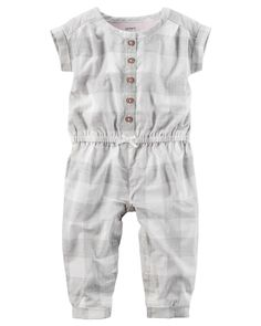 Baby Girl Buffalo Check Jumpsuit | Carters.com