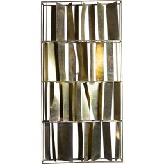 Flair Edition Brutalist Brass Sculptural Screen from flair on RubyLUX