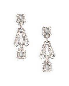 Art deco earrings - perfect for a Great Gatsby wedding!