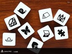 Story Dice - ideas for writers on the App Store. Could also be used without app, as students could roll dice to come up with charade or continuing the story ideas. Elementary Spanish, Spanish Classroom, Teaching Spanish, Learn Spanish, Classroom Ideas, Cube Template, Templates, Story Dice, Story Cubes