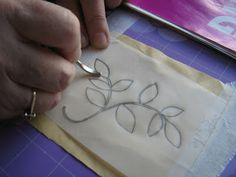 ELLA'S CRAFT CREATIONS: Design Transfer tutorial......My way ! And my 'POPPY' watercolour !!