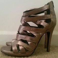 Dolce Vita strappy heels Taupe shimmer high heels, few scuffs but overall great  shape Dolce Vita Shoes Heels