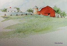 Old Farm  by Roseann Hayes