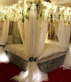 Bridal Room Decor, Wedding Night Room Decorations, Desi Wedding Decor, Luxury Wedding Decor, Cute Bedroom Decor, Room Ideas Bedroom, Pinterest Room Decor, Brides Room, Wedding Bedroom
