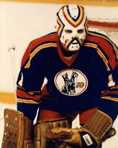 Denis Herron's mask stripes just meshed well with the Kansas City Scouts uniform, even if it did look partly like a rainbow mustache.