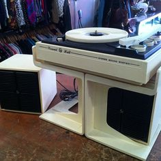 Vintage 60 S Stereo Bar W 8 Track Faux Fireplace