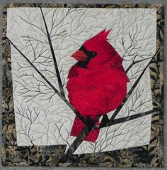 """""""Northern Cardinal"""", 12 x 12"""", by Ruth Powers"""