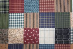 Country Patchwork Fabric 100 Cotton by Springs by DebiLynneFabric, $11.50