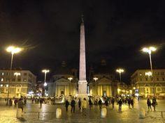 Evening stroll at Piazza del Popolo, Rome