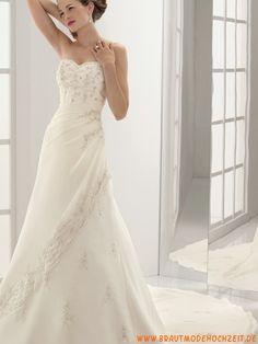 2012 uniques Brautkleid aus Chiffon mit Stickerei Bodenlang