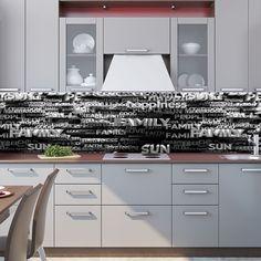 Kitchen Backsplash - 3d Text, best 50+ desing ideas for Kitchen decor! | by X-decor