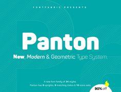 Família tipográfica Panton