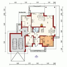 DOM.PL™ - Projekt domu AC Naomi G2 CE - DOM AF1-08 - gotowy koszt budowy Micro House, Building A House, House Plans, Floor Plans, House Design, How To Plan, House Styles, Houses, Poland