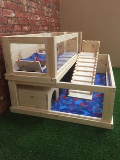 Guinea Pig Enclosure with rear loft