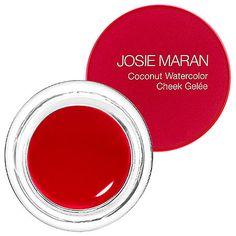 Josie Maran - Argan Coconut Watercolor Cheek Gelée - Getaway Red   Sephora