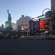 And a Statue of Liberty too like just be yourself Vegas.