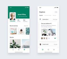 Leaf mobile UI #ui #uidesign Mobile Ui Design, Web Ui Design, Graphic Design, Android App Design, Website Design Layout, Mobile App Ui, Ui Design Inspiration, Ui Web, Interface Design