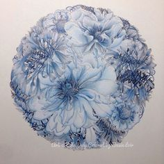 """489 Likes, 45 Comments - Susie Loir (@susie_loir) on Instagram: """"For our Winter Frosty Challenge. Only blues and greys. 😜 From Floribunda, by Leila Duly.…"""" Coloring Tips, Coloring Book Art, Adult Coloring Pages, Polychromos, Colored Pencil Techniques, Grey Art, Color Pencil Art, Coloured Pencils, Colouring Techniques"""