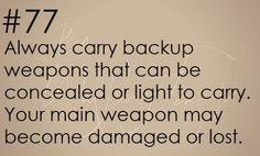 Zombie Apocalypse Survival Tip #77