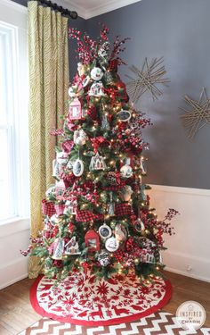 Into the Woods themed Christmas tree featuring the Balsam Spruce. Decorated by @inspiredbycharm