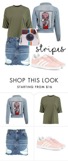 """fashion"" by varvara-muras on Polyvore featuring мода, Boohoo, Topshop и adidas Originals"