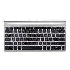 GearHead KB8500MAC Bluetooth Wireless Keyboard for Mac w/10 Integrated Hot Keys (Silver) - Retail Hanging Package