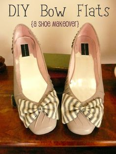 I have ballroom dance shoes that once I'm done with would look adorable with a neon bow!