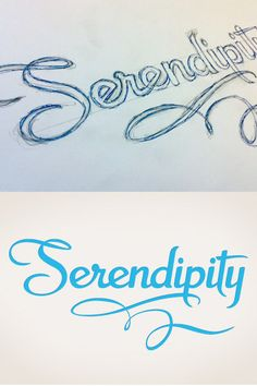 I'll admit that I'd never thought to hand-letter a logo. (Yes, I'm not much of a designer. But these images are amazing!)