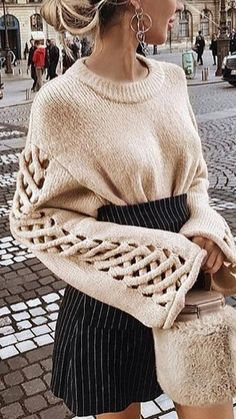 - Just fabulous knitting Knitwear Fashion, Knit Fashion, Winter Mode, Sweater Coats, Minimal Fashion, Mode Inspiration, Mode Style, Sweater Weather, Winter Fashion Outfits