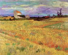 Wheat Field - Vincent van Gogh, 1888, oil on canvas, 19.6 x 24 in., P. & N. de Boer Foundation, Amsterdam, Netherlands
