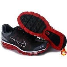 Nike Air Max 2009 Women Mesh Shoes Black/Red Color Black Running Shoes, Black Shoes, Air Max 2009, Air Max Sneakers, Sneakers Nike, Nike Air Max, Red Color, Mesh, Women