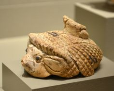 Faience(?) hedgehog(?) from a domestic cult context
