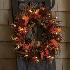 Lighted Fall Wreath~The Country Door