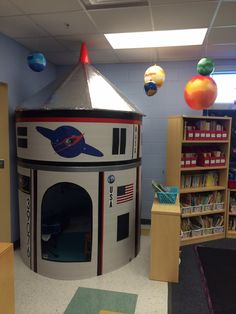 My outer space classroom reading area space classroom ideas pinterest outer space - Outer space classroom decorations ...