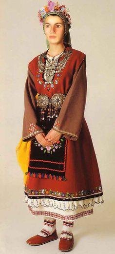 Νυφική φορεσιά Διδυμότειχου / Bridal costume of Didymóteicho in the Evros region of East Macedonia and Thrace, in NE Greece.