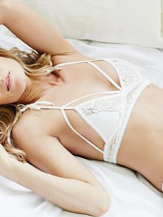 We're obsessed with this feminine For Love & Lemons Forget Me Not Bralette ($98)